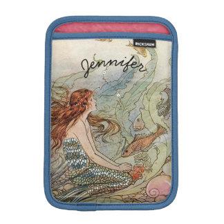 Under the Sea Vintage Mermaid Personalized Sleeve For iPad Mini