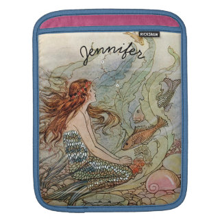 Under the Sea Vintage Mermaid Personalized Sleeves For iPads