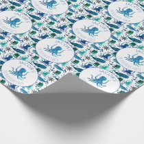 Under The Sea Watercolor Octopus Personalized Wrapping Paper