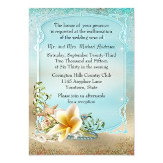 Under the Sea Wedding Vow Renewal Card