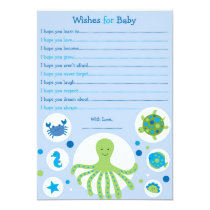 Under the Sea Wishes for Baby Advice Cards