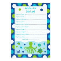 Under the Sea Wishes for Baby Card
