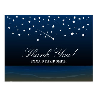 Under the Stars Beach Wedding Thank You Cards