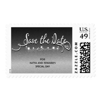 Under the Stars Custom Personalized Save the Date Postage Stamp