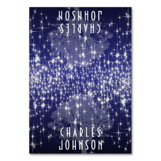 Under the Stars in Dark Blue Place Card