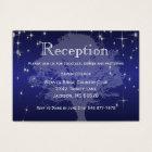 Under the Stars in Metallic Dark Blue - Reception Business Card