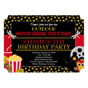 outdoor movie night gifts on zazzle