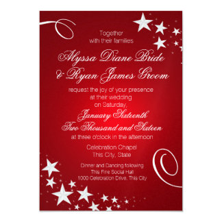 Under the Stars Wedding Celebration Card