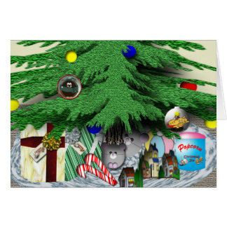 Under the tree card