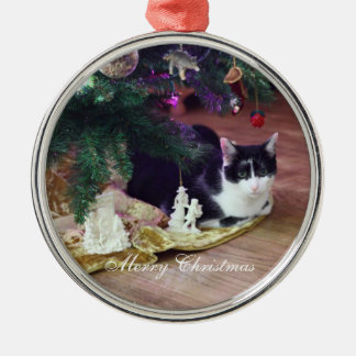 Under the Tree Cat Ornament