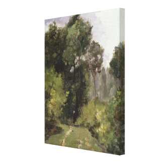Under the Trees, 1864 (oil on board) Canvas Prints