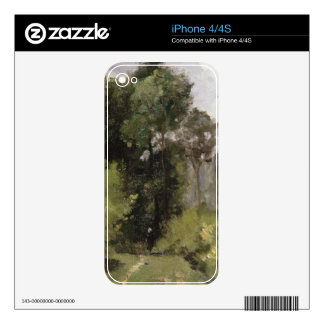 Under the Trees, 1864 (oil on board) iPhone 4 Decal