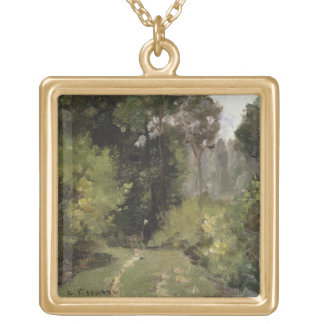 Under the Trees, 1864 (oil on board) Necklaces