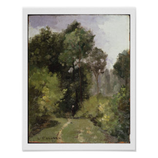 Under the Trees, 1864 (oil on board) Print