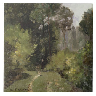 Under the Trees, 1864 (oil on board) Tile