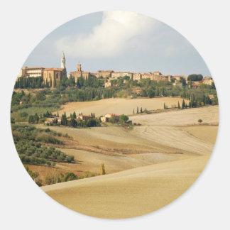 Under the Tuscan Sun Round Stickers