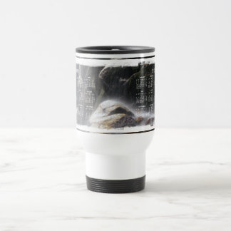 Under the Waterfall; 2012 Calendar 15 Oz Stainless Steel Travel Mug