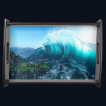 Under the Wave Serving Tray