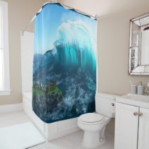 Under the Wave Shower Curtain