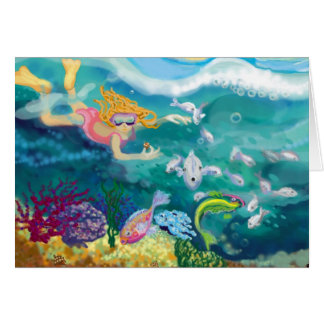 Under the waves greeting card