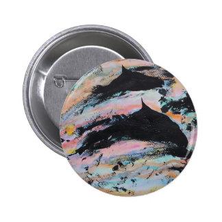 Under the waves pinback button
