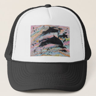 Under the waves trucker hat