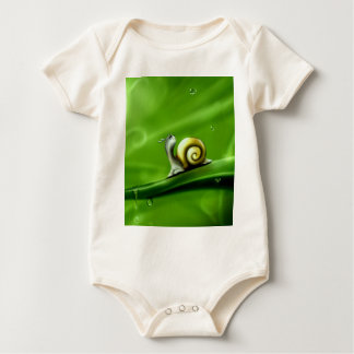 UNDER THE WEATHER (cute snail) ! Baby Bodysuit