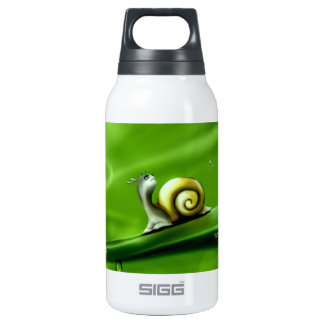 UNDER THE WEATHER (cute snail) ! Insulated Water Bottle