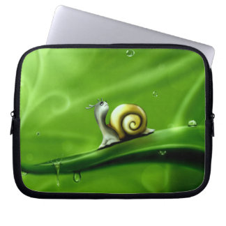 UNDER THE WEATHER (cute snail) ~ Laptop Sleeve