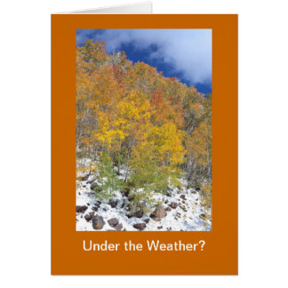 Under the Weather Fall Get Well Template Card