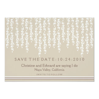 Under the Willow Tree Save the Date Wedding 5x7 Paper Invitation Card