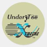 Under Toe Xtreme Decal Classic Round Sticker