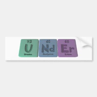 Under-U-Nd-Er-Uranium-Neodymium-Erbium.png Pegatina Para Auto