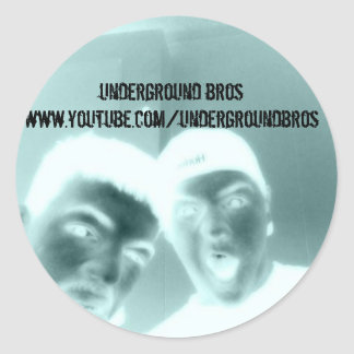 under, underground broswww.youtube.com/undergro... classic round sticker