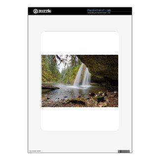 Under Upper Butte Creek Falls in Autumn Decals For iPad