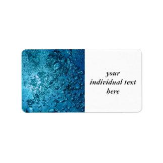 under water 03 address label