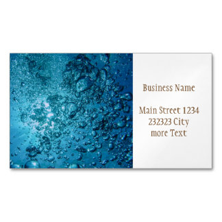 under water 03 magnetic business card