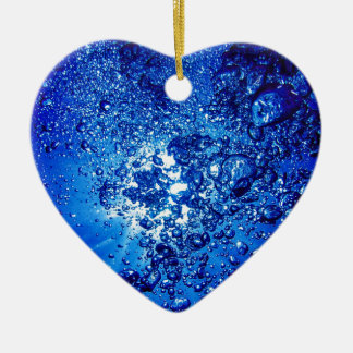 under water 4 Double-Sided heart ceramic christmas ornament