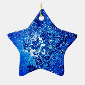 under water 4 Double-Sided star ceramic christmas ornament