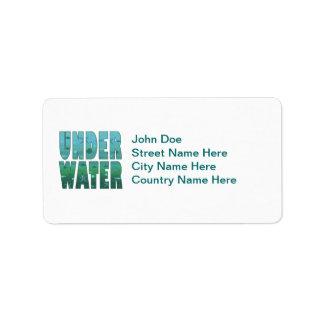 Under Water Address Label