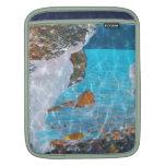 Under Water Blue Reflective Digital Art iPad Sleeve