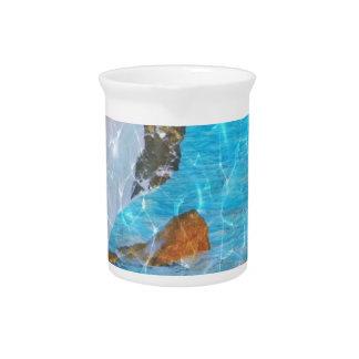 Under Water Blue Reflective Digital Art Beverage Pitcher