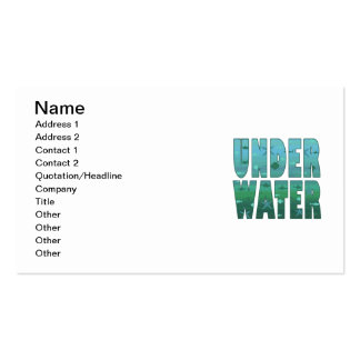 Under Water Business Card