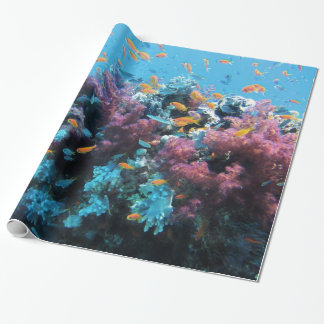 Under water Coral and Fish Wrapping Paper