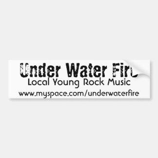 Under Water Fire bumper sticker Car Bumper Sticker