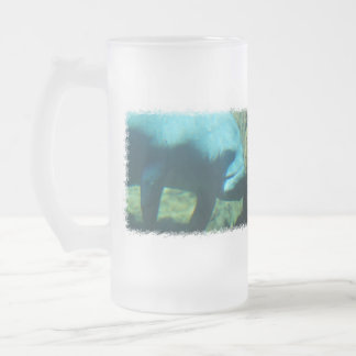 Under Water Manatee  Frosted Beer Mug