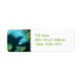Under Water Manatee  Mailing Labels