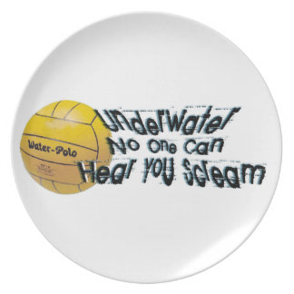 Under Water No One Can hear You Scream Plate