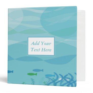 "Professional Business Under Water Shadows 3-Ring Binder 1.5"""