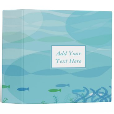 "Professional Business Under Water Shadows 3-Ring Binder 2"""